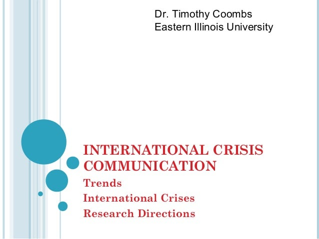 International Crisis Communication