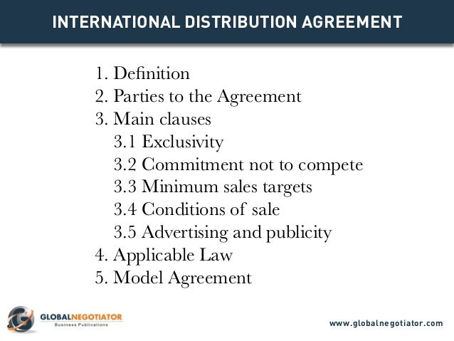 distribution agreements samples