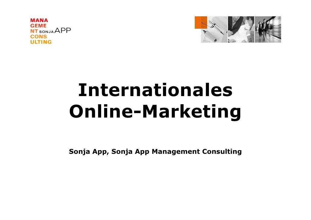 InternationalesOnline-MarketingSonja App, Sonja App Management Consulting