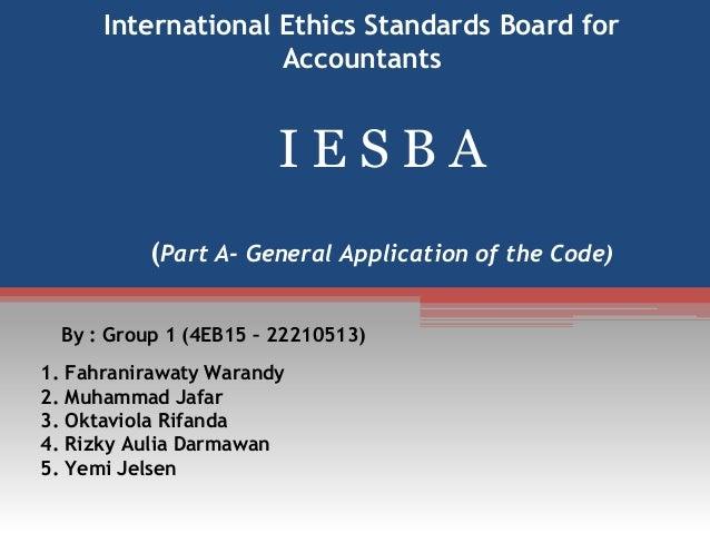International ethics standards board for accountants