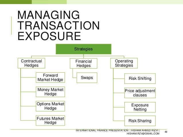 foreign exchange risk management analysis Foreign exchange risk management practices refer to the financial strategies, decisions, techniques and activities adopted by organizations to mitigate the effects of foreign exchange exposure.