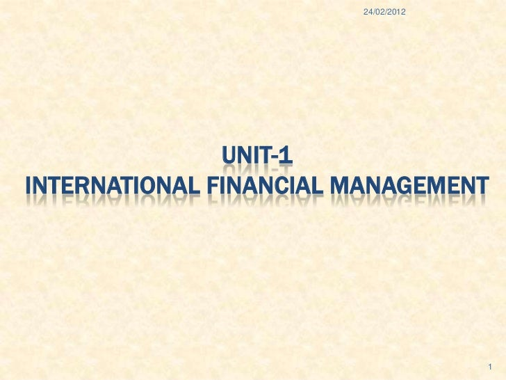 International finance system unit-1
