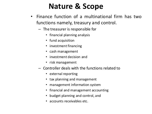 nature and scope of funds management Author information associate professor and director of graduate personal financial planning programs, georgia state university, atlanta, georgia.