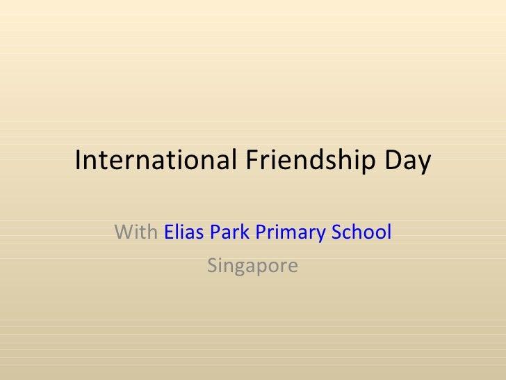 International friendship day1