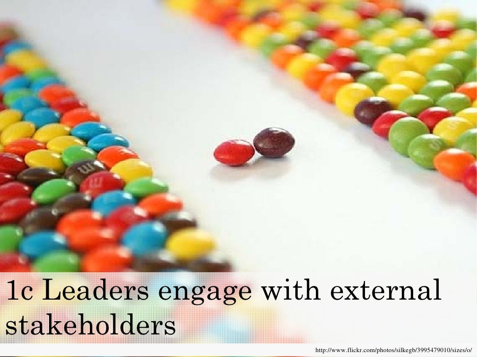 1c Leaders engage with external stakeholders