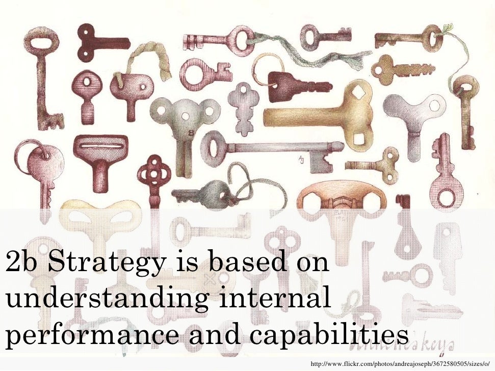 2b Strategy is based on understanding internal performance and capabilities
