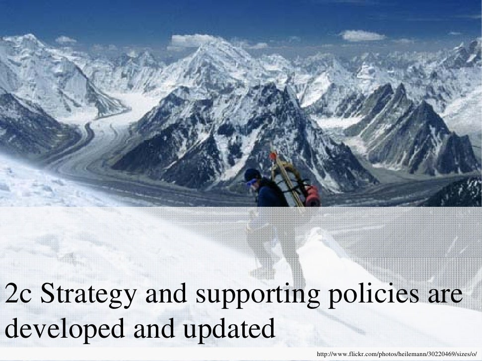 2c Strategy and supporting policies are developed and update