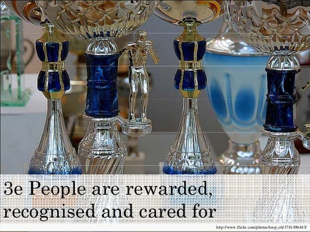 People are rewarded, recognised and cared for