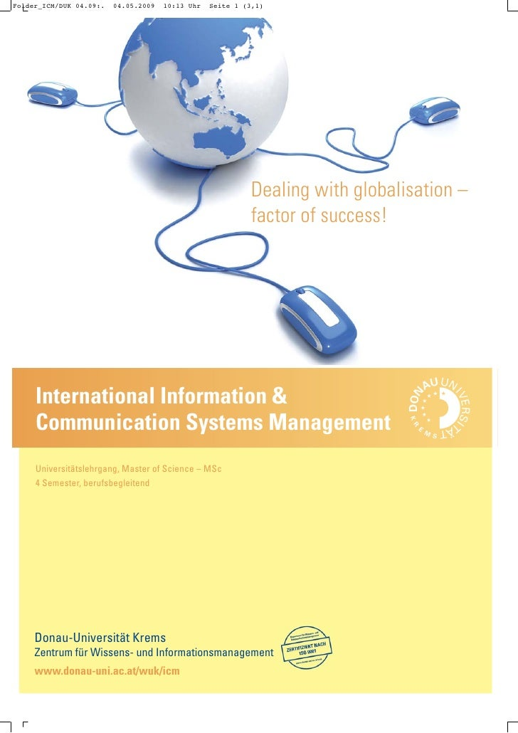 Dealing with globalisation –                                                 factor of success!     International Informat...