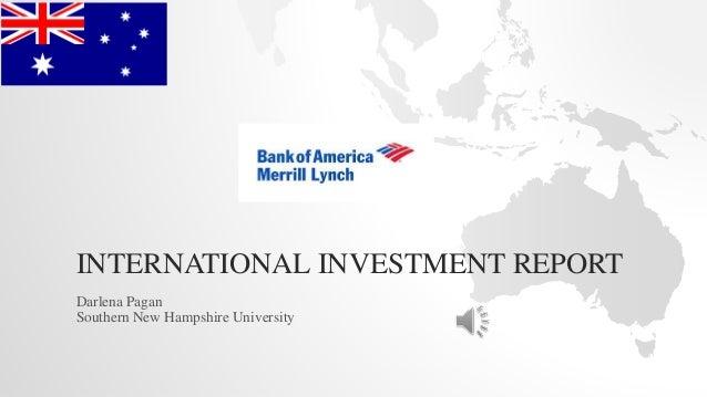 INTERNATIONAL INVESTMENT REPORT Darlena Pagan Southern New Hampshire University