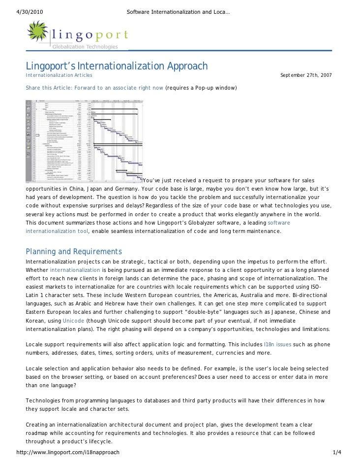 4/30/2010                                 Software Internationalization and Loca…        Lingoport's Internationalization ...