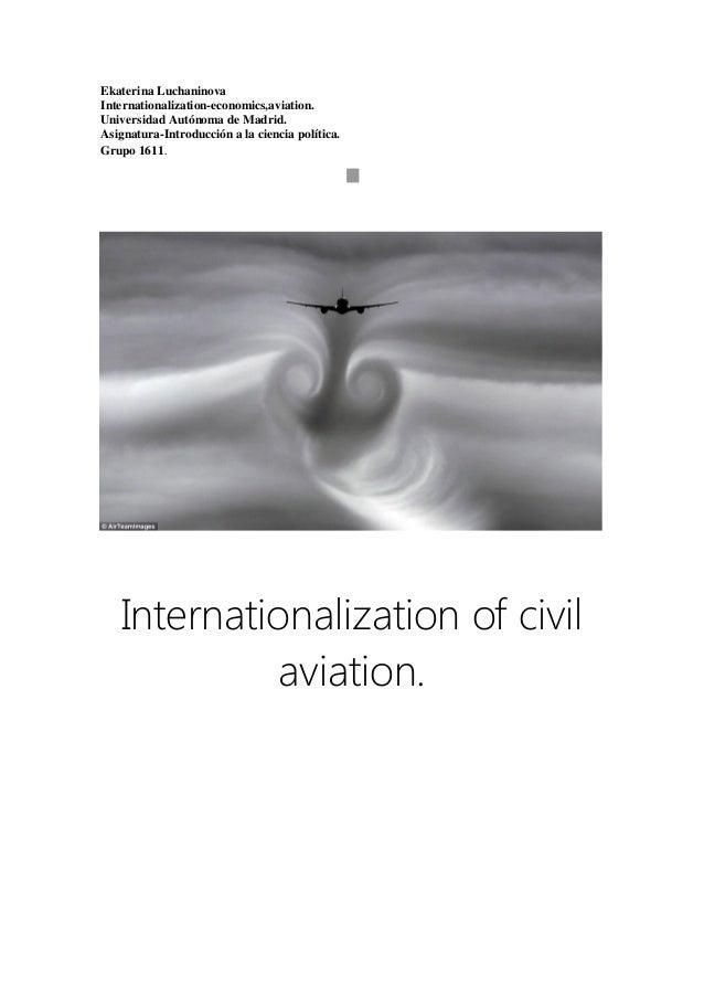 Internationalization of civil aviation