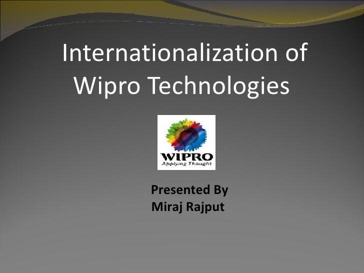Internationalization of Wipro Technologies