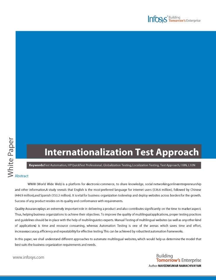 Internationalization Test Approach - Full Whitepaper