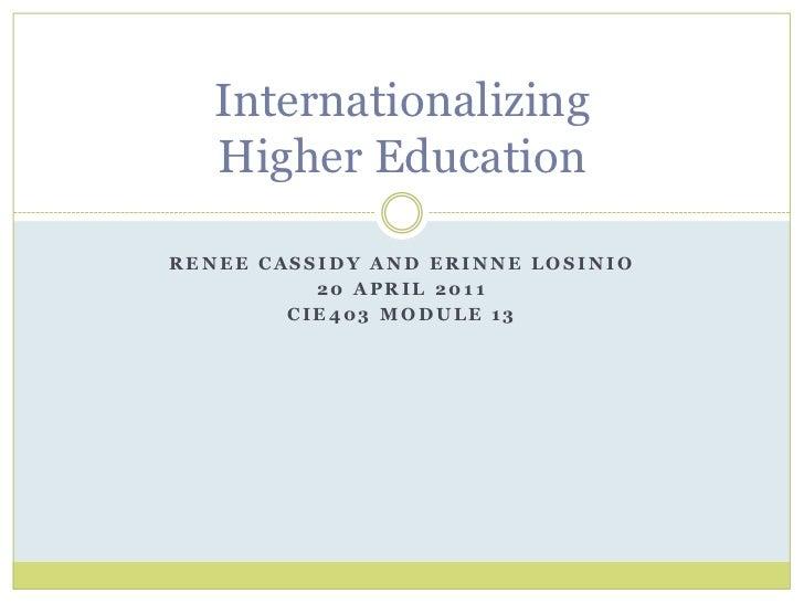 Internationalizing Curriculum in Universities (Module 13)