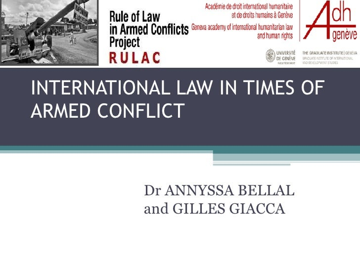 International Law in Times of Armed Conflict