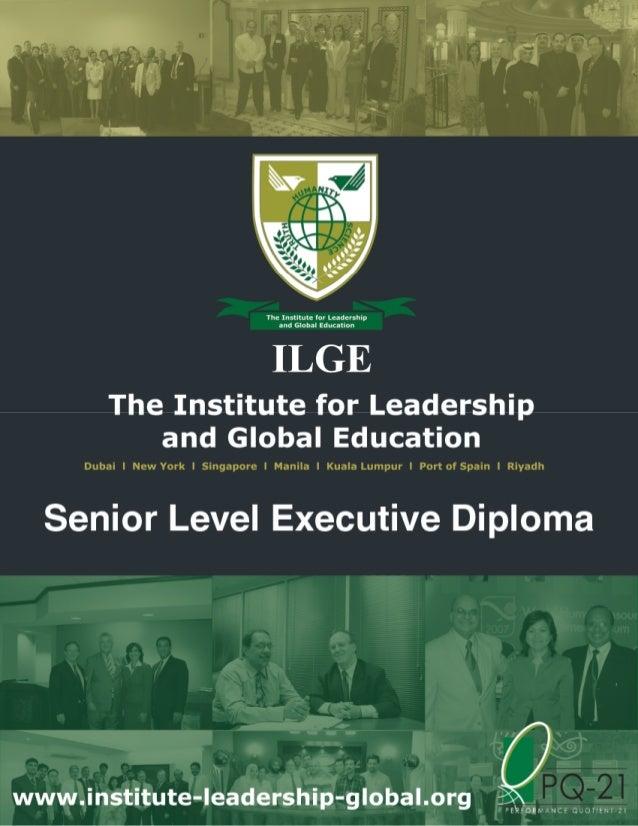 "International Leadership Master Class Retreat (LS010) (Part of ILGE's Senior Level Executive Diploma Program) Theme: ""Buil..."
