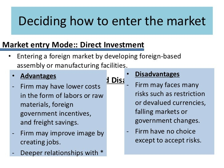 foreign manufacturing strategies without direct investment
