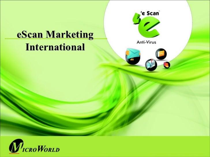 eScan International marketing