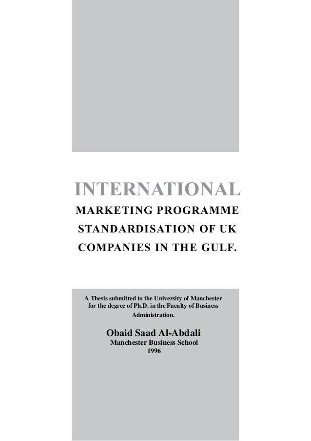 phd thesis international marketing