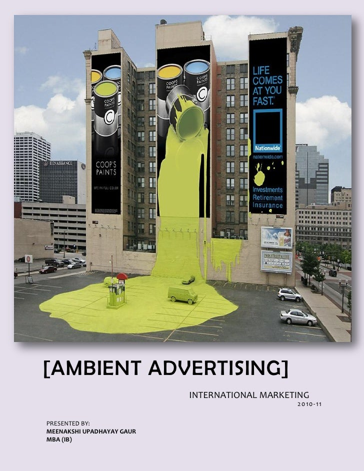[AMBIENT ADVERTISING]                           INTERNATIONAL MARKETING                                               2010...