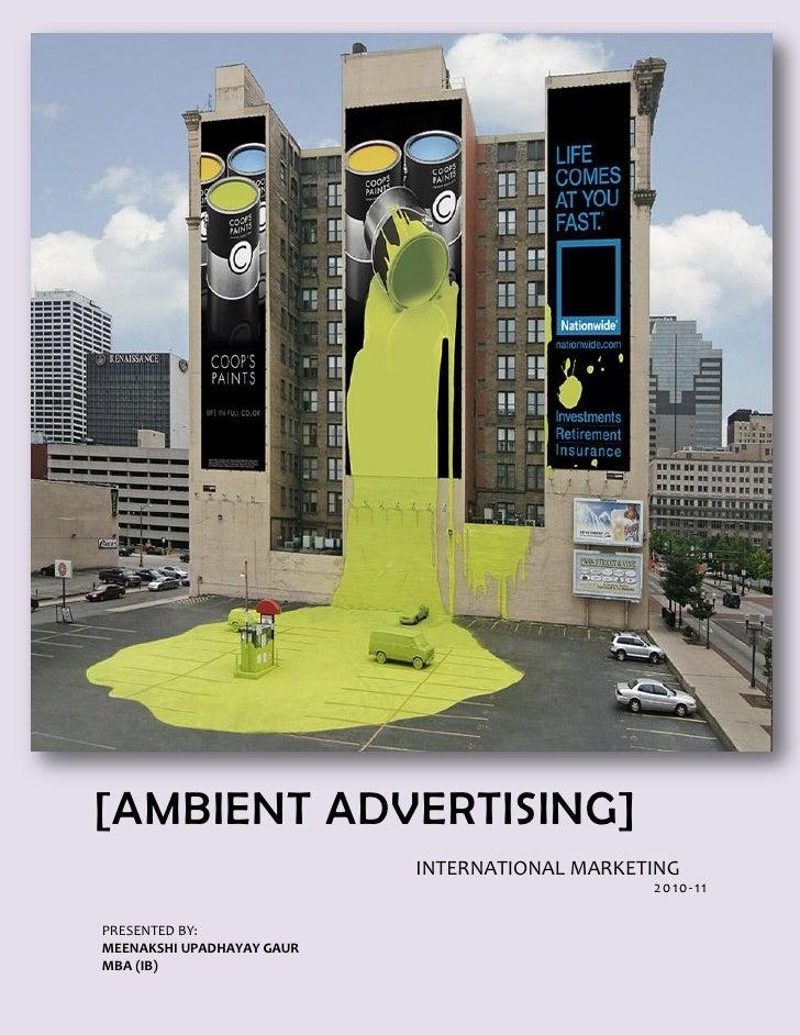 International Marketing-Ambient Advertising_Write Up