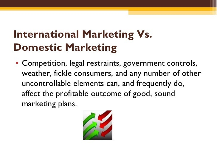 international and domestic marketing comparison paper View notes - mkt 450 week 1 individual assignment international and domestic marketing comparison paper from mkt 421 marketing at university of phoenix write a 1,050.