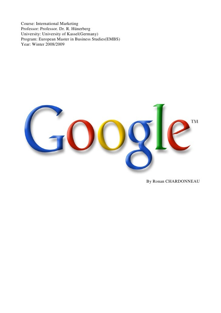International Marketing Google