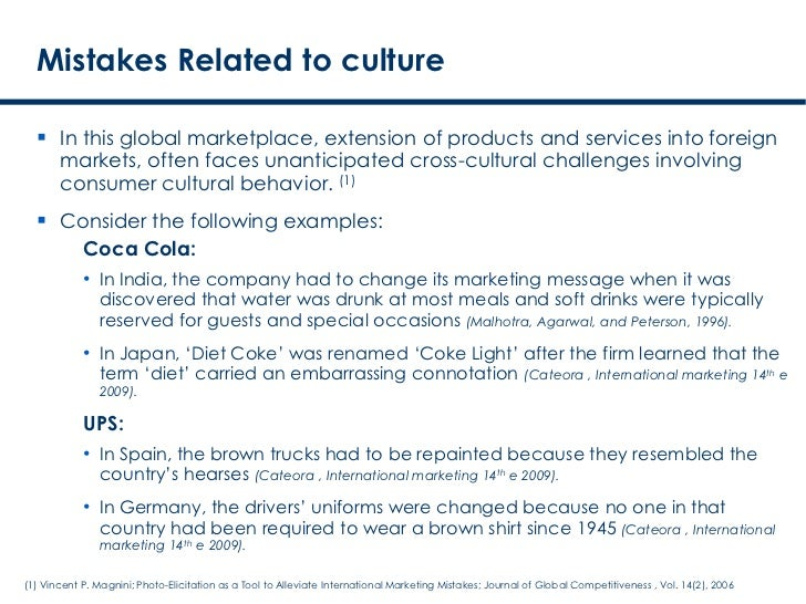 on cross cultural marketing strategies loreal cosmetics Standardizing or adapting the marketing mix across key words: culture, international marketing, marketing strategies, standardization and adaptation purpose: compare two strategies, standardization and adaptation, to show how companies manage cultural differences method: our.
