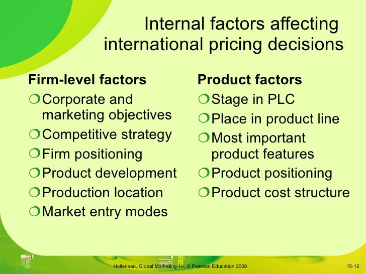 internal factors that affect new product
