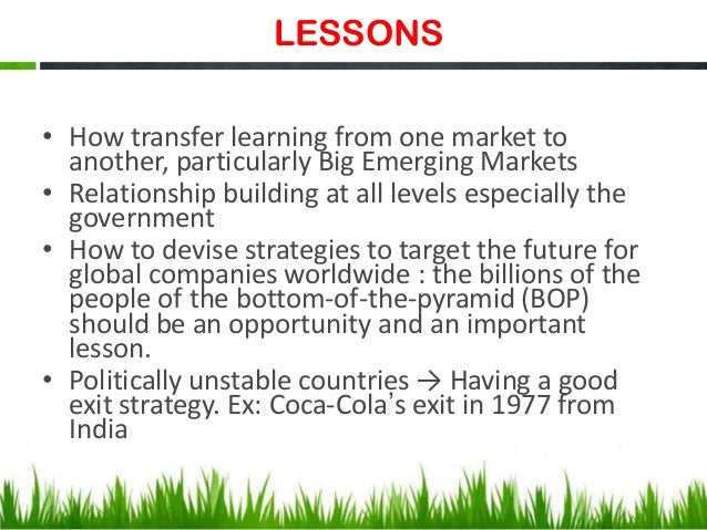coca cola and pepsi in india case study Coca-cola india case study analysis 1 when coca-cola entered the indian market in 1933, it struggled gaining consumer preference and sales in response.