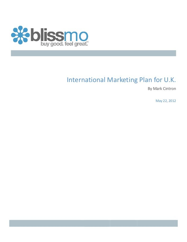 International	  Marketing	  Plan	  for	  U.K.	                    ...