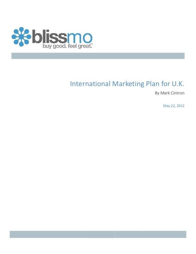 Blissmo - UK Potential Market