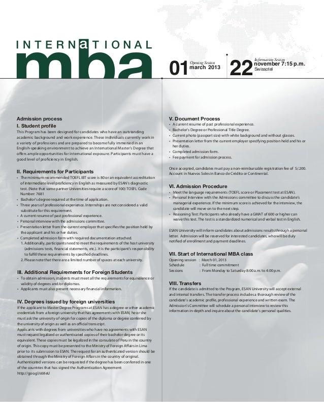 Information sheet   International MBA