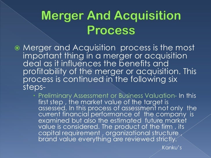 Dissertation report on mergers and acquisitions