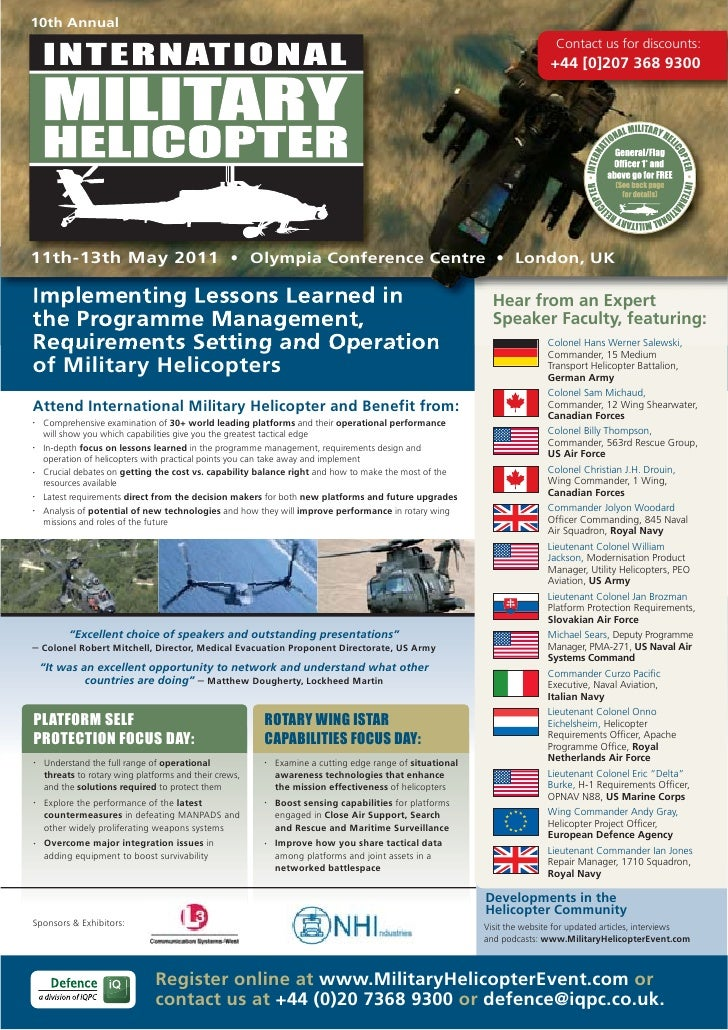 International Military Helicopter Conference Brochure