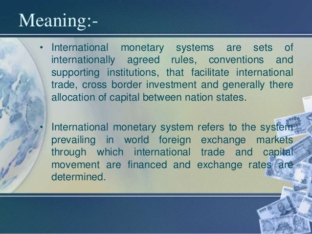 Meaning of international trade system