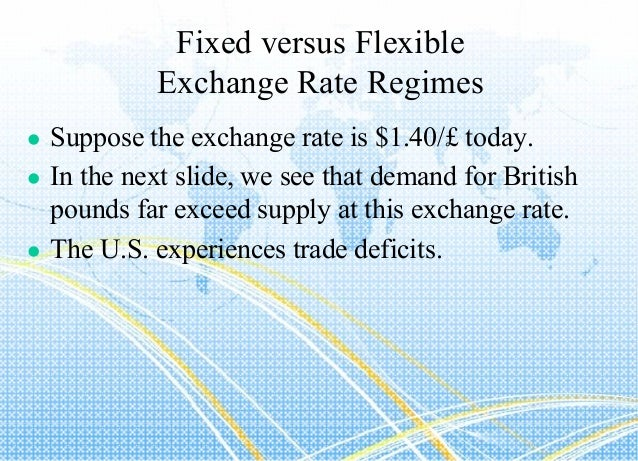difference between fixed and flexible exchange rates