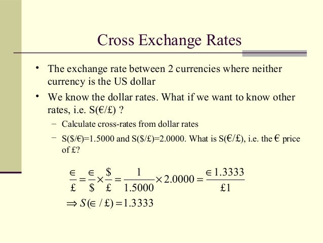 Forex cross rates calculation