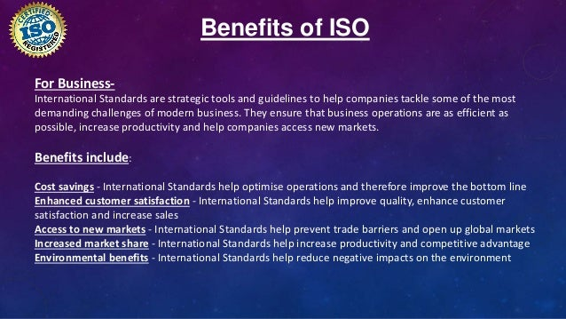 disadvantages of iso standards Of these standards in small and medium-sized enterprises  have already  accepted the iso 9000 standards  for smes, if we consider their  disadvantages.