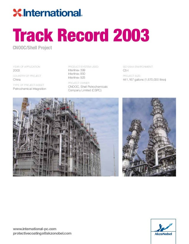 Lining Track Records & Case Histories