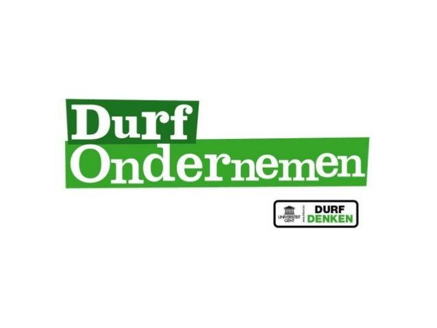 International presentation dare to venture - Ghent University