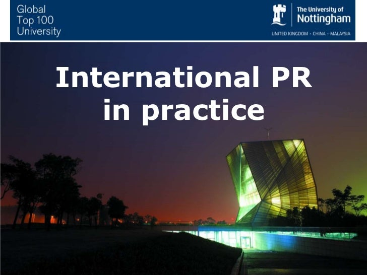 International PR in practice<br />