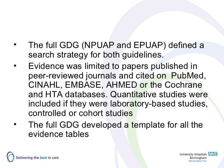 national pressure ulcer advisory panel nutrition guidelines