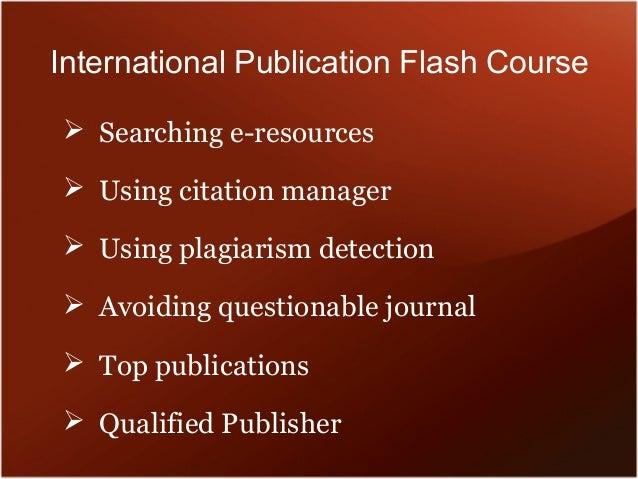 International publication flash course