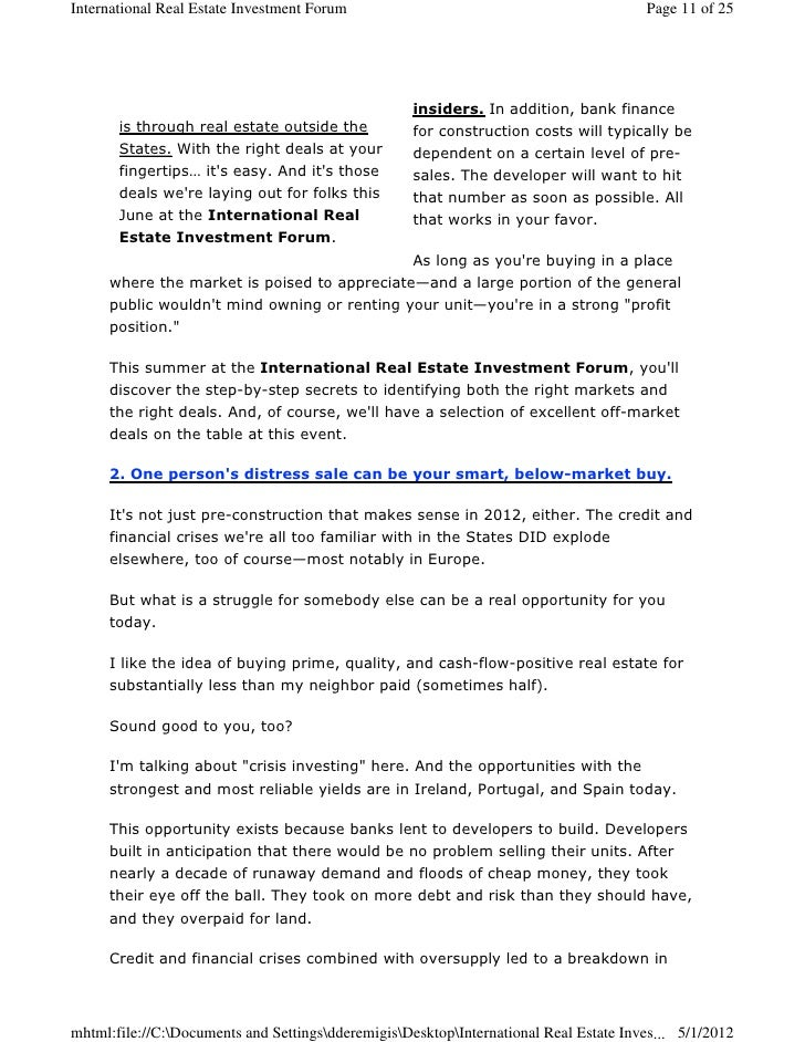 investing in distressed real estate essay
