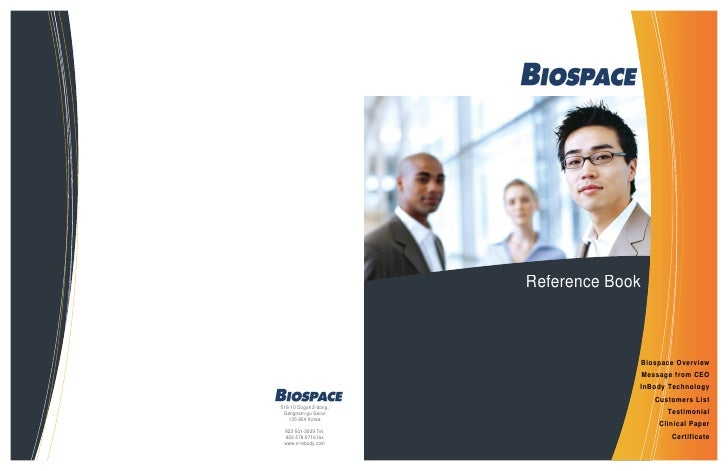 Reference Book                                        Biospace Overview                                        Message fro...