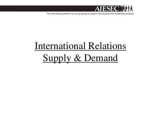 International Relations  Supply & Demand