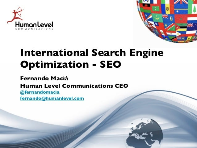 International Search Engine Optimization - Multilingual SEO