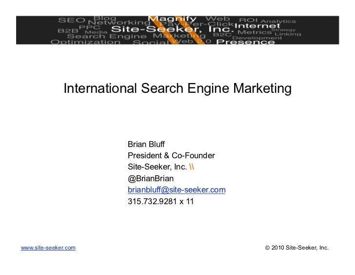International seo, Gobal Search Engine Optimization
